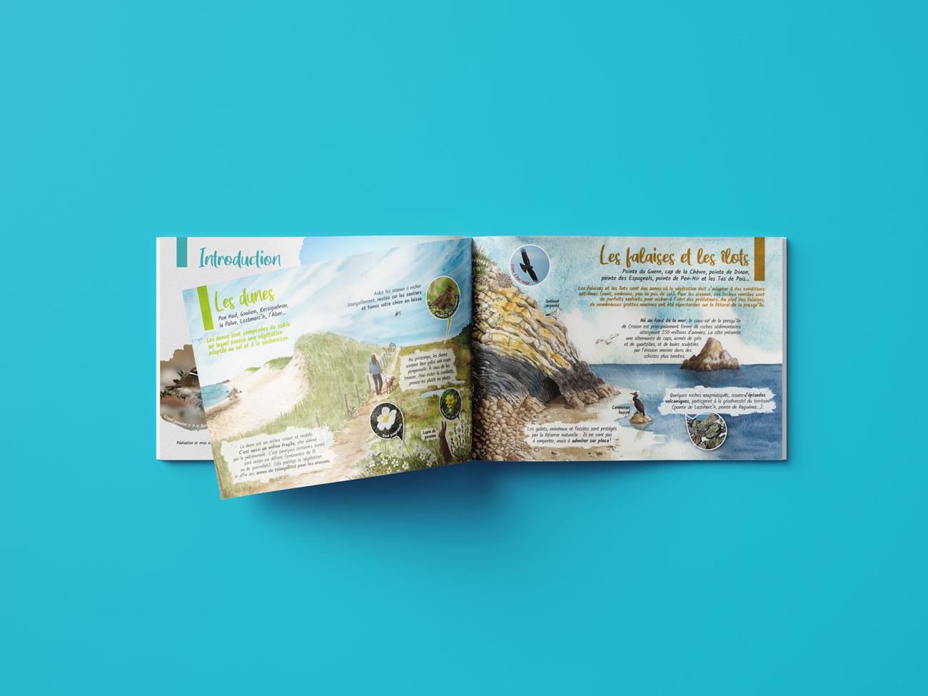 Pages du guide découverte des espaces naturels de la presqu'île de Crozon